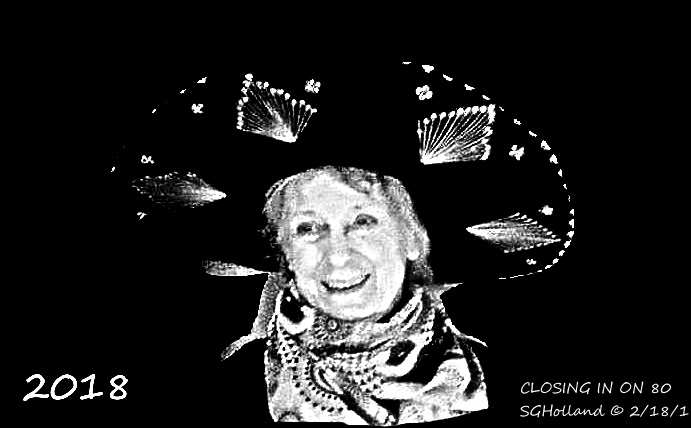 Feb 2018 SUSAN AT 80 FOR HEADER OF WDPRESS 2018 PAGE b&w closing in on 80