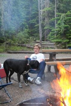 KACHESS Riddley and Woody near fire