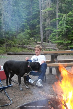 KACHESS Riddley and Woody near fire